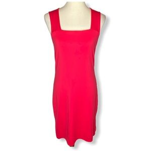 Muse Pink Sleeveless Stretch Jersey Dress Sz 4